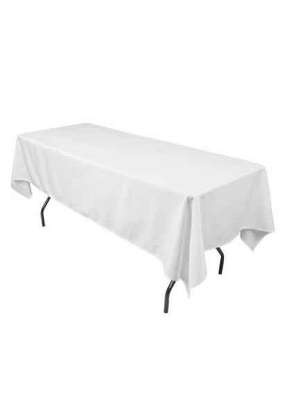 "Rectanglar 70""x120"" White Tablecloth"