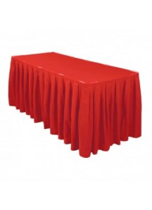 Table Skirting per ft (Red)