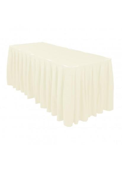 Table Skirting per ft (Ivory)
