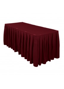 Table Skirting per ft (Burgundy)
