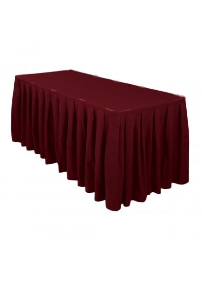 Table Skirting per ft (Burgundy)