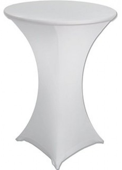 Fitted Cocktail Tablecloth - White