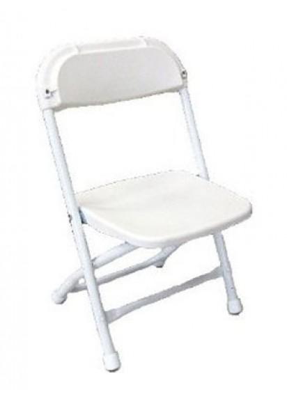 Kids White Folding Chair