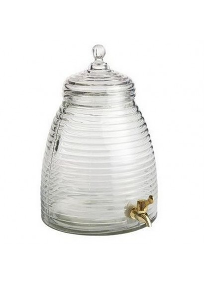 Clear Beverage Server - glass- Bee Hive