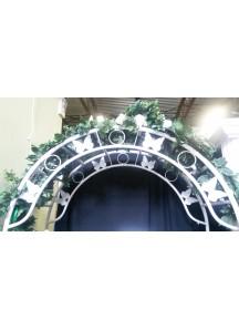 Round Metal Arch w/- Butterfly Design
