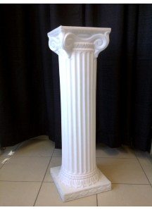 40 Inch Height  White Column