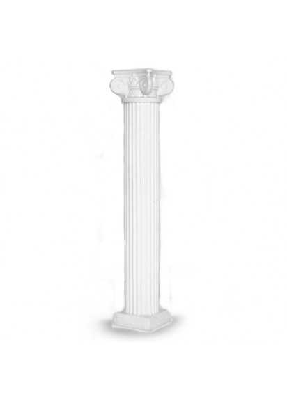 6 ft  White Column