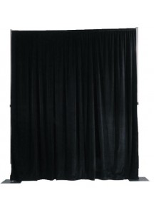 Backdrop 10x8pc w/or blk Curtains