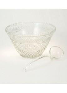 11 qt. Punchbowl cut glass