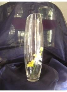 """12"""" Tall Vase - Slant Top"""