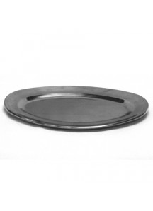 "14"" Stainless Steel Oval Tray"