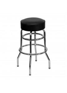 Black/Silver Bar Stool