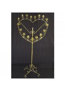 17 Candle Holder (brass/heart)