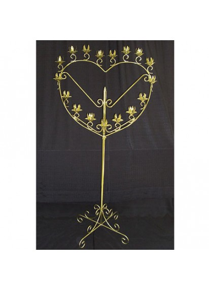 17 Candle Holder (brass/heart)