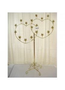 19 Candle Holder Double Heart