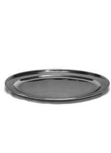 "22"" Stainless Steel Oval Tray"