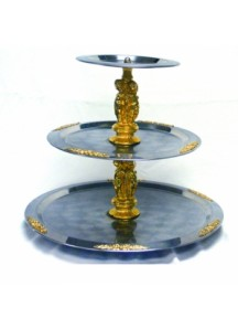 3 Tier s/s Gold Fruit Stand