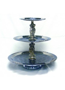 3 Tier s/s Silver Fruit Stand/style may vary