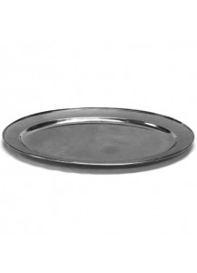 "24"" Stainless Steel Oval Tray"