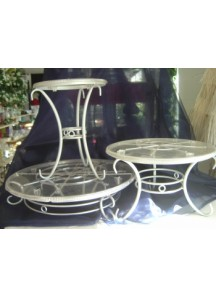 3 Tier Cake Stand (silver/gold)