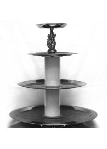 4 Tier s/s Silver Fruit Stand