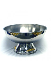 5 Gal. s/s Gold Silver Punchbowl