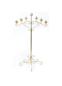 7 Arm Candle Holder Brass