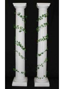 8' White Column