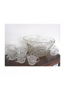 8 qt. Flure Glass Punchbowl