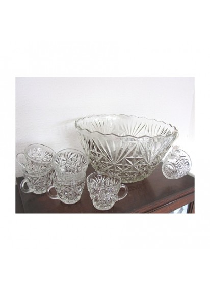 8 qt. Flure Glass Punchbowl