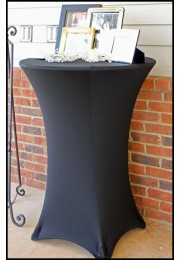 Fitted Cocktail TableCloth - Black