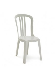 Stacking White Lawn Chairs