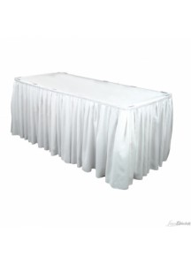 Table Skirting per ft (white)