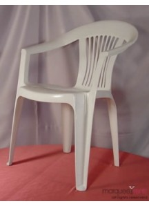White Bistro Chair w/arms