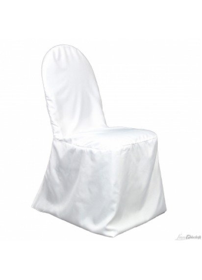 Chair Covers-Rd/Sq-White,Black,Ivory
