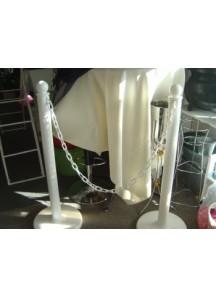 White Stantion - Pls w/- Rope