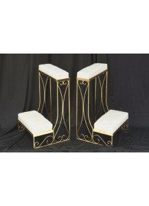Brass Kneeling Bench (pair)