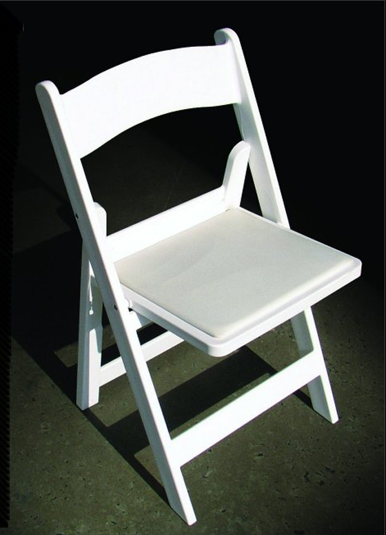 74 White Resin Wedding Chairs Folding