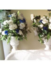 Flower Stand w/Silk Flower (pair)