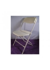 Folding Chair white( second grade) as is