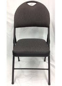 Black Folding Padded Chair New