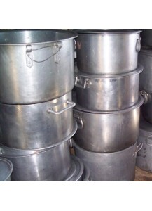 Large Flat Cooking Pots 100 qt.