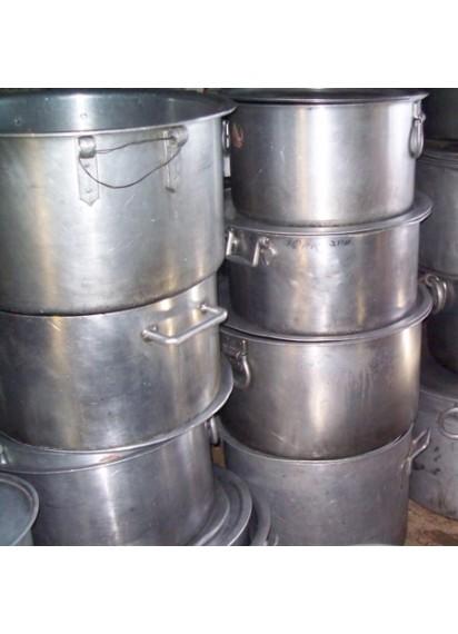 Large Flat Cooking Pots 100 qt.