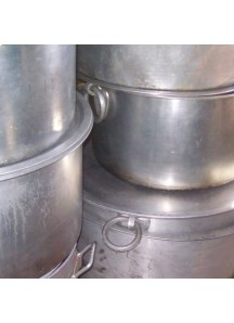 Large Flat Cooking Pots 140 qt.