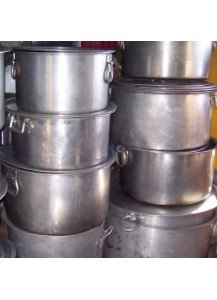 Large Flat Cooking Pots 50 qt.