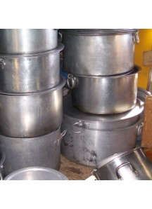 Large Flat Cooking Pots 70 qt.