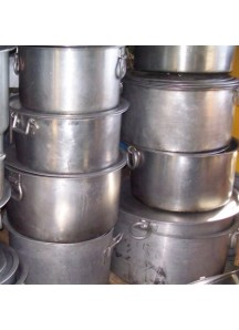Large Flat Cooking Pots 80 qt.