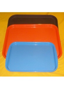 Plastic Trays (rectangular red or orange)