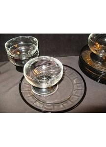 Sherbert / Shrimp Cocktail Dish & Plate (glass)