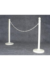 Stanchions White w/White Chain